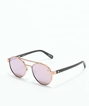Spy Deco Matte Rose Gold & Matte Black Sunglasses