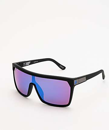 Spy Flynn Black, Bronze & Dark Blue Happy Lens Sunglasses