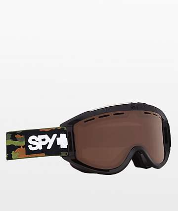 Spy Getaway Black Camo Bronze Snowboard Goggles