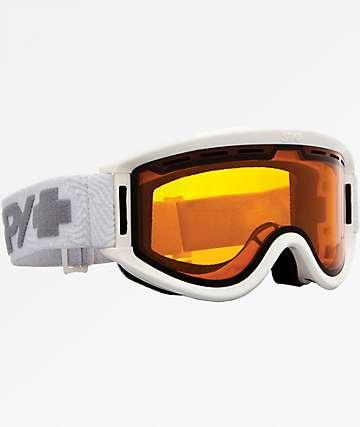 Spy Getaway Persimmon gafas de snowboard en blanco