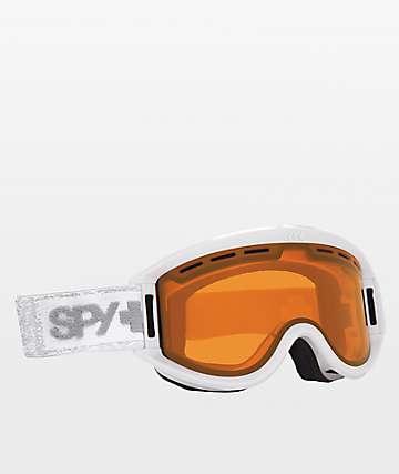 Spy Getaway White Denim Snowboard Goggles