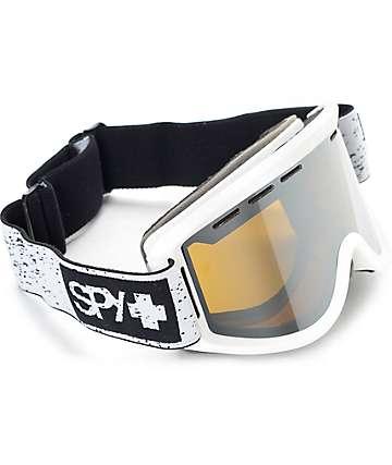 Spy Getaway máscara de snowboard en blanco