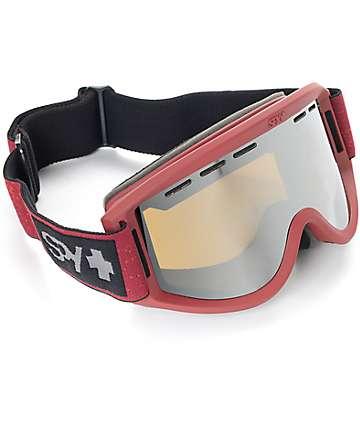 Spy Getaway máscara de snowboard en color borgoño