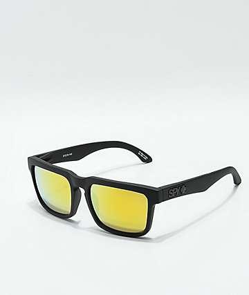 7db8ded1ae3 Spy Helm Matte Black   Gold Sunglasses
