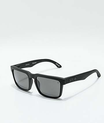 3b8bbd0883 Spy Helm Matte Black   Gray Polarized Sunglasses