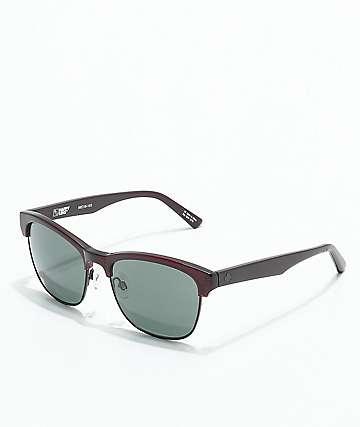 Spy Loma gafas de sol de color granate translúcido y negro mate