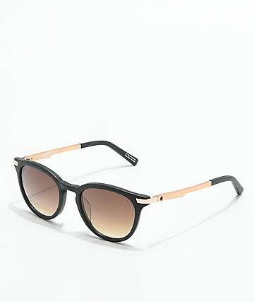 Spy Pismo gafas de sol en negro mate y oro rosa