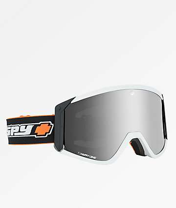 Spy Raider Old School White Snowboard Goggles