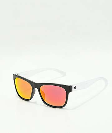 Spy Sundowner Black, Crystal Grey & Red Spectra Sunglasses