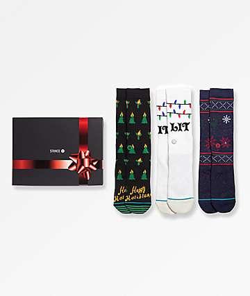 Stance 3 Pack Tis The Season Crew Socks