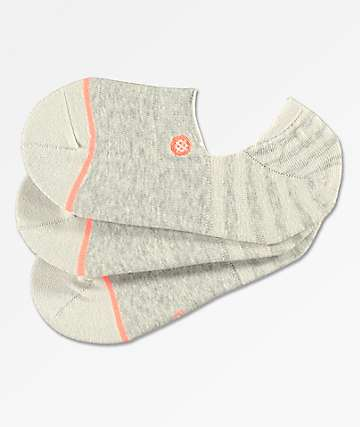 Stance 3 Pack Uncommon Grey No Show Socks