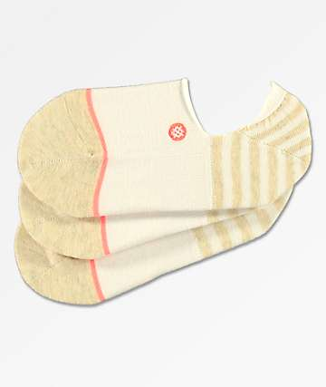 Stance 3 Pack Uncommon White No Show Socks