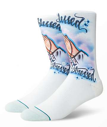 Stance Airbrush Blessed Crew Socks