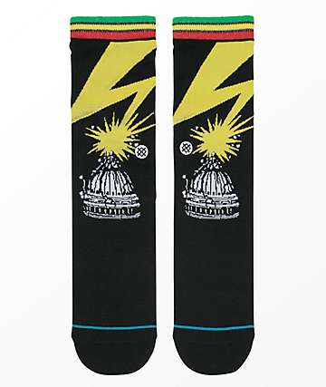 Stance Bad Brains calcetines negros para niños