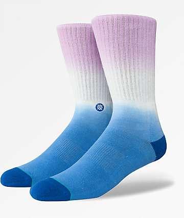 Stance Block Blue & Pink Crew Socks