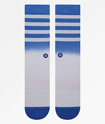 Stance Bobby 2 White & Blue Crew Socks