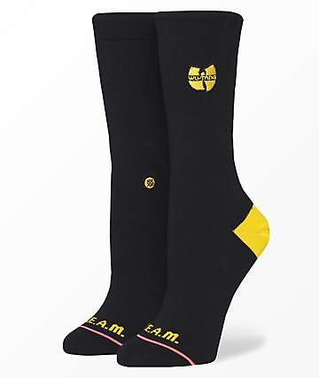 Stance C.R.E.A.M. Wu Patch Black Crew Socks