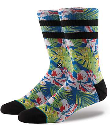 Stance Cannon Blue Floral Crew Socks