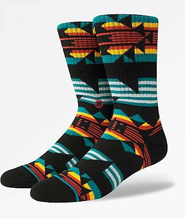 Stance Ceder Green Black Crew Socks