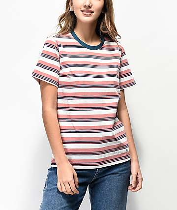 Stance Daphne Dusty Rose Stripe T-Shirt