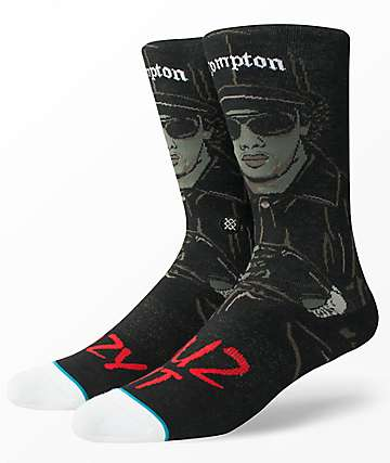 Stance Eazy Duz It Black Crew Socks