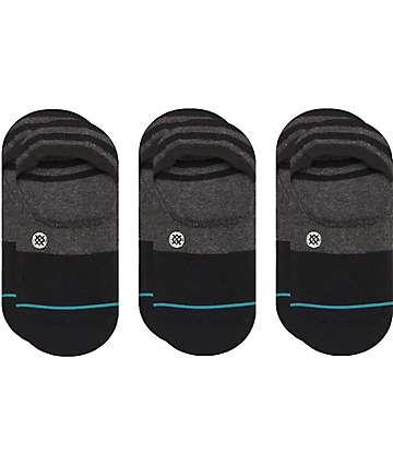 Stance Gamut 3 Pack No Show Black Socks