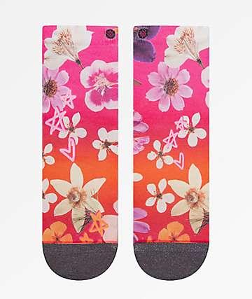 Stance Garden Goddess Pink Ankle Socks