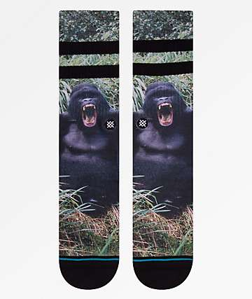 Stance Gorilla Black Crew Socks