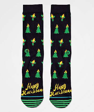 Stance Holiblaze Black Crew Socks