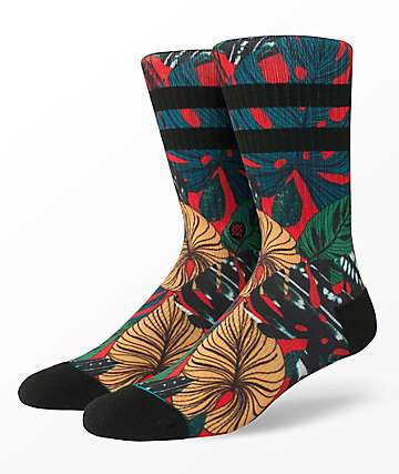 Stance House Plant calcetines rojos