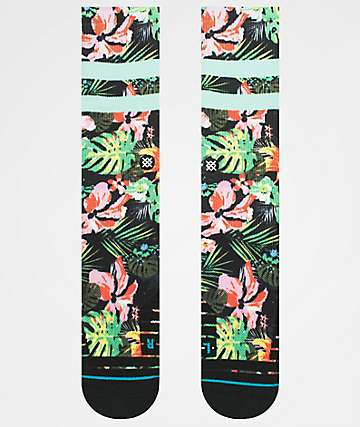 Stance Hyberics Tropical & Black Athletic Crew Socks