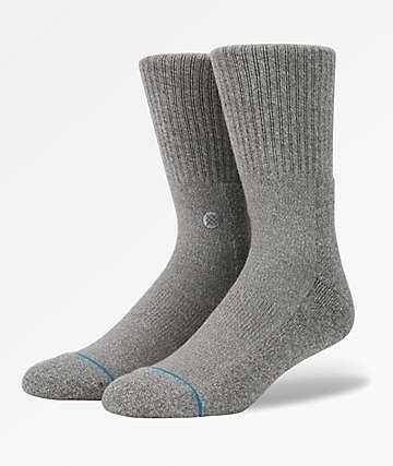 Stance Icon Grey Crew Socks
