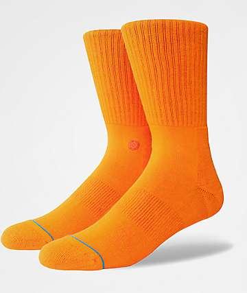 Stance Icon Orange Crew Socks