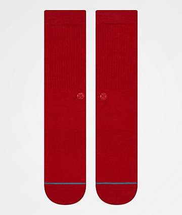 Stance Icon Red Crew Socks