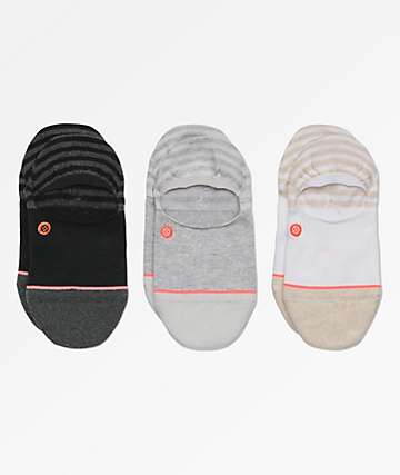 Stance Invisible Multicolored 3 Pack No Show Socks