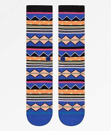 Stance Kern Blue & Orange Crew Socks