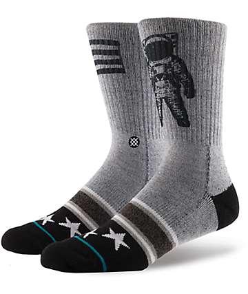 Stance Landed Boys Grey Crew Socks