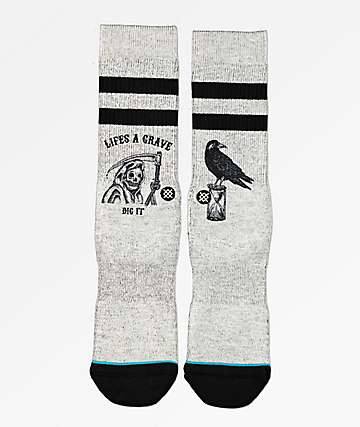 Stance Lifes A Grave Grey Crew Socks