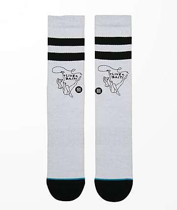 Stance Live Bait Grey Crew Socks