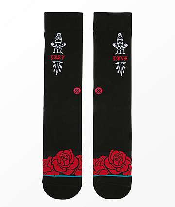 Stance Lost Love Black Crew Socks