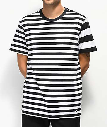 Stance Mariner Black & White Stripe T-Shirt