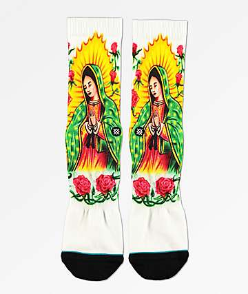 Stance Mary White Crew Socks