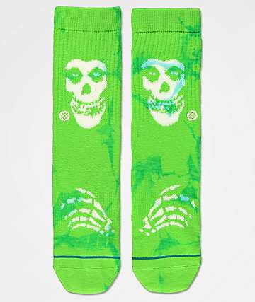 Stance Misfits calcetines verdes para niños