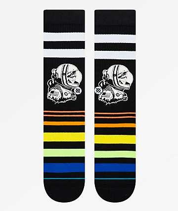 Stance Moon Man Striped Black Crew Socks