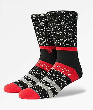 Stance Nero Black & Red Crew Socks