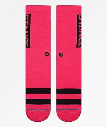 Stance OG Neon Pink Crew Socks