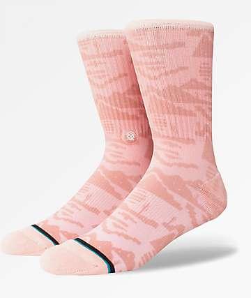 Stance Pixel Desert Pink Crew Socks