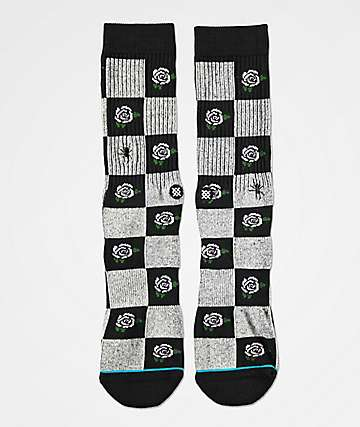 Stance Rose Budz Black Crew Socks.
