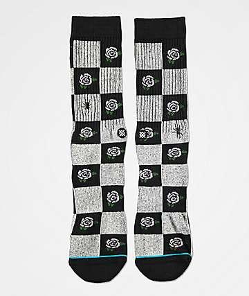 Stance Rose Budz Black Crew Socks.