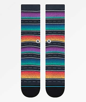 Stance Sierras Black Striped Crew Socks